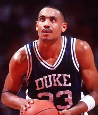 Grant Hill looking from the charity stripe