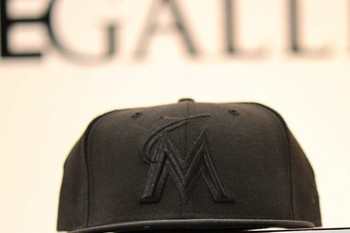 "Miami Marlins ""Back in Black"" design (Courtesy of Shoe Gallery)"