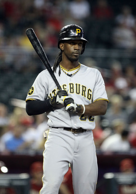 PHOENIX, AZ - SEPTEMBER 21:  Andrew McCutchen #22 of the Pittsburgh Pirates bats against the Arizona Diamondbacks during the Major League Baseball game at Chase Field on September 21, 2011 in Phoenix, Arizona.  (Photo by Christian Petersen/Getty Images)