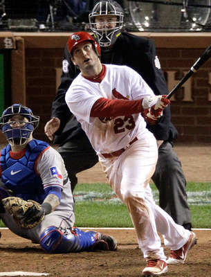 David Freese watches his legendary Game 6 home run leave the stadium
