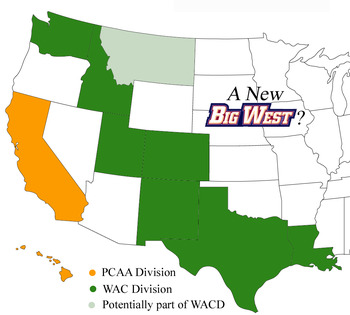 Merging the WAC and the Big West would yeild better travel and a conference with good TV in Texas and California.