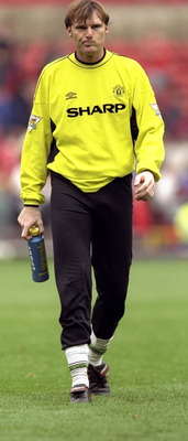 25 Sep 1999:  Massimo Taibi of Manchester United before the FA Carling Premiership match against Southampton played at Old Trafford in Manchester, England. The game ended in a 3-3 draw. \ Mandatory Credit: Alex Livesey /Allsport