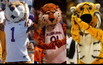 "Truman the Tiger makes a total of three ""Tigers"" mascots in the SEC."