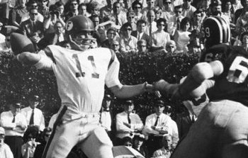 Florida quarterback Steve Spurrier playing against Missouri in the Sugar Bowl in 1966.