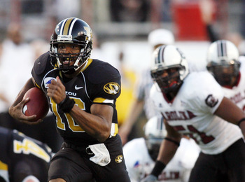Brad Smith running in a historic comeback win against South Carolina in 2005.