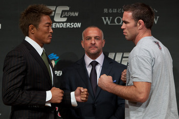 Yoshihiro Akiyama (left) and Jake Shields/Dan Herbertson for MMA Mania