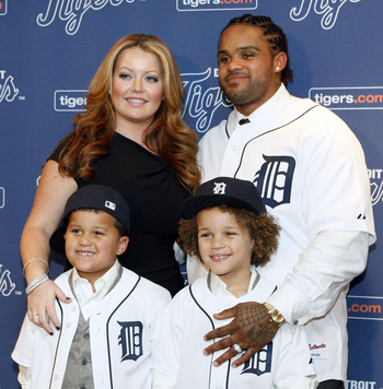 Prince Fielder is introduced into Motown as the newest member of the Detroit Tigers.