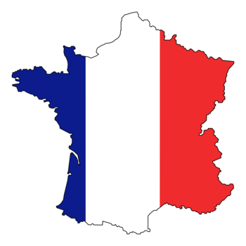 France_flag_map_display_image