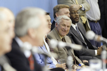 Dean Smith can't help but smile at UNC's future.