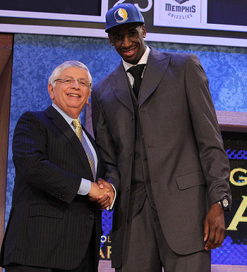 Udoh being draft 6th overall in 2010.