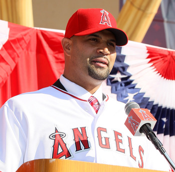 Albert Pujols signed a 10-year deal worth close to $250 million with the Angels.