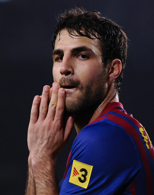 Fabregas, now a Barcelona player, but was he the Pizza thrower then, as has been claimed?