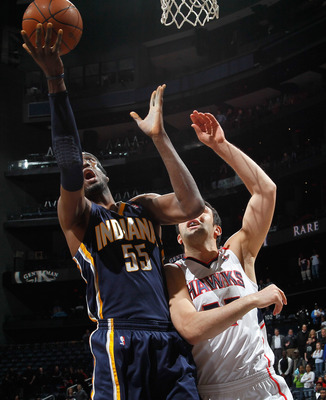 Hibbert, a first time All-Star this year, is a big reason the Pacers are winning away from home even more than in Indy.
