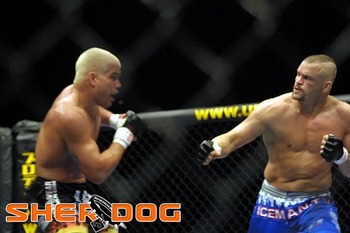 Tito and Chuck, seen not discussing Japan. Photo by Sherdog.com