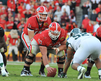 You'll see some new faces on Georgia's offensive line in 2012.