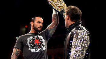 WWE Champion CM Punk and Chris Jericho