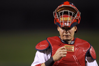 Yadier Molina will have to continue to be viewed as a threat by potential base runners.