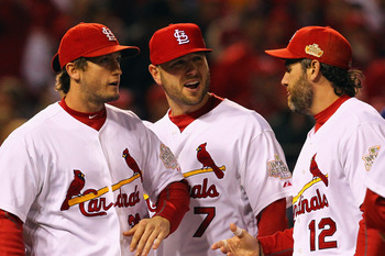 Newly established St. Louis hero David Freese, Matt Holliday, and Lance Berkman will have to bat with success in 2012 for a return to the post-season.