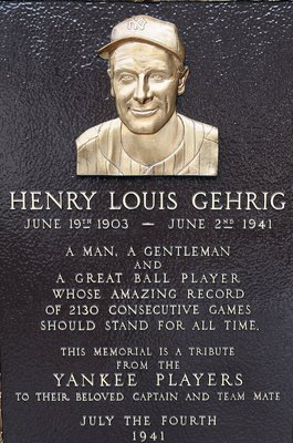 Cal Ripken may have passed him but nothing could diminish Lou GehrigThe Iron Horse