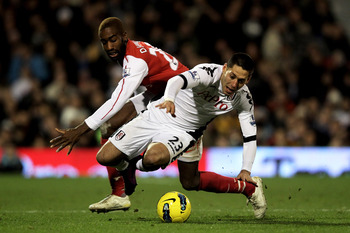 Djourou must not give away a penalty if Arsenal are to remain kings of London.