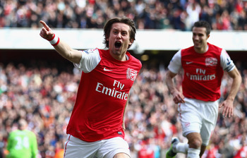 A rejuvenated Rosicky gave Arsenal the lead