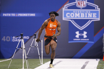 Baylor QB Robert Griffin's prayers were answered to the tune of possibly the fastest 40 yard dash ever turned in by a true quarterback prospect at the NFL Scouting Combine.