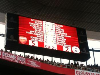 The final score in North London