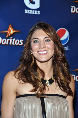INDIANAPOLIS, IN - FEBRUARY 03:  Soccer goalie Hope Solo attends Pepsi Pre-Super Bowl Party at Indiana State Museum on February 3, 2012 in Indianapolis, Indiana.  (Photo by Mike Coppola/Getty Images for Pepsi)