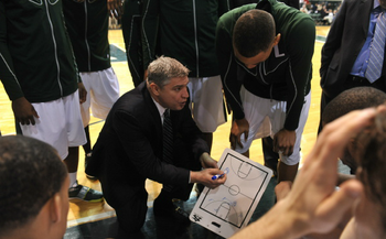 It took a number of years, but Jimmy Patsos has brought Loyola to the point where it is one of the premier programs in the MAAC. (Photo by Larry French)
