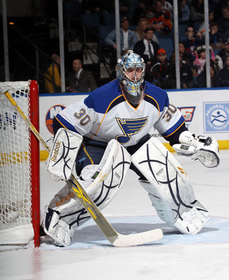 Ben Bishop with the Blues before the trade.