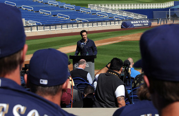 Braun's press conference after winning his appeal, with teammates in the stands in support.