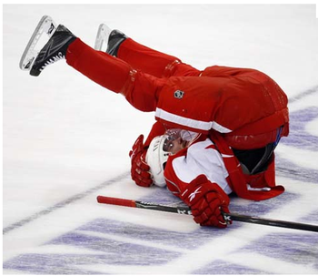 Detroit prefers their Datsyuk on his feet