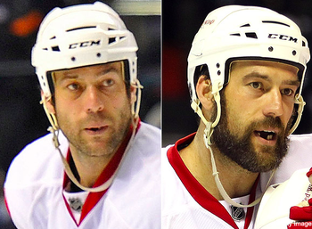 Todd Bertuzzi literally grew this beard in an hour and 38 minutes.
