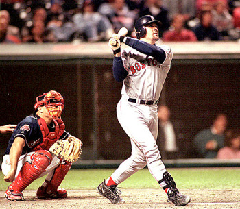 Varitek's contribution in the ALDS victory over Cleveland was immense