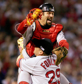 An image all Red Sox fans will remember forever