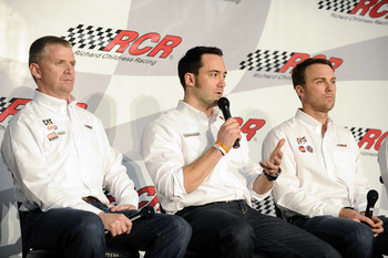 Sitting from left to right was the finishing order of the RCR cars at Daytona.
