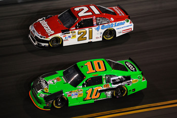 Non-Cup regulars like Patrick (No. 10) and Bayne (No. 21) did not fare well at Daytona.