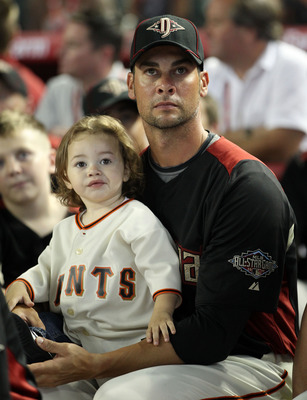 Ryan Vogelsong enjoying the 2011 Home Run Derby during All-Star festivities