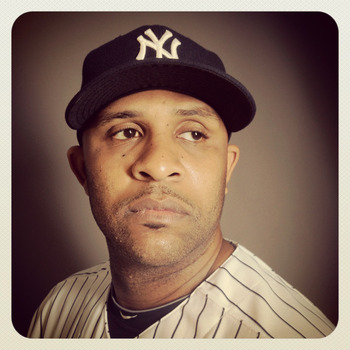 TAMPA, FL - FEBRUARY 27: (EDITOR'S NOTE: Image was shot with an iPhone using Instagram) CC Sabathia #52 of the New York Yankees poses for a portrait during the New York Yankees Photo Day on February 27, 2012 in Tampa, Florida.  (Photo by Nick Laham/Getty