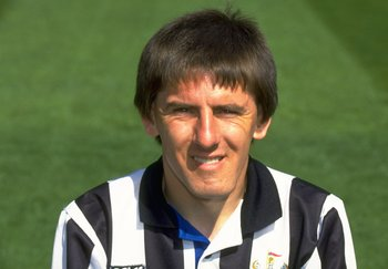 1993:  Portrait of Peter Beardsley of Newcastle United during a photo-call held at St James'' Park in Newcastle, England. \ Mandatory Credit: Mike  Cooper/Allsport