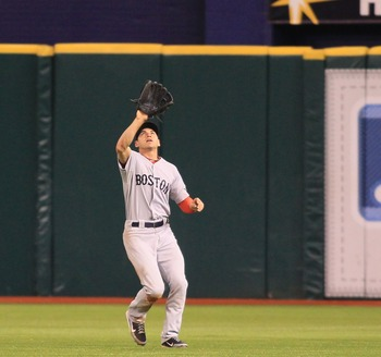 Jacoby Ellsbury took home his first gold glove last year.
