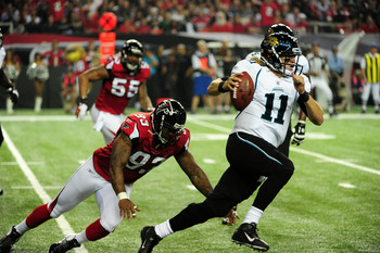 Blaine Gabbert spent most of his rookie NFL season on the run.