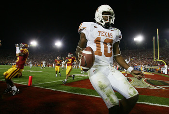 Vince Young led Texas to the 2005 National Championship.