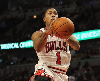 Derrick Rose leading the Bulls