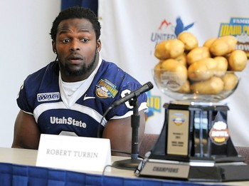 Robert Turbin. Hungry to play in the NFL... and for some Idaho potatoes.