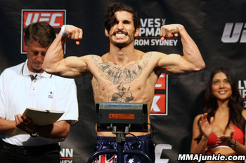 """Uncle Creepy"" Ian McCall. (Photo credit: MMAjunkie.com)"