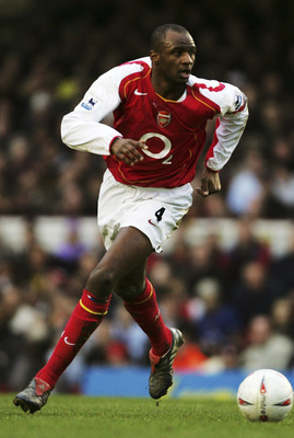 LONDON ENGLAND, JANUARY 29. Patrick Vieira of Arsenal in action during the FA Cup Fourth Round match between Arsenal and Wolverhampton Wanderers at Highbury on January 29, 2005 in London, England.