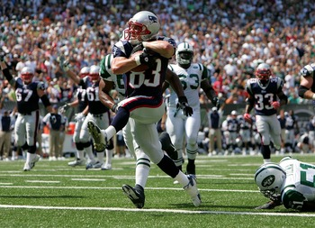 Wes Welker's first TD as a Patriot