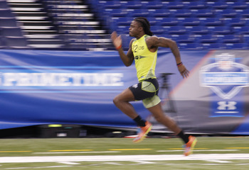 "Dre ""Swag"" Kirkpatrick at the NFL Combine"