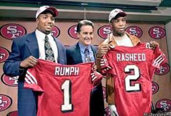 Mike Rumph and Saleem Rasheed were the 49ers' top picks in 2002